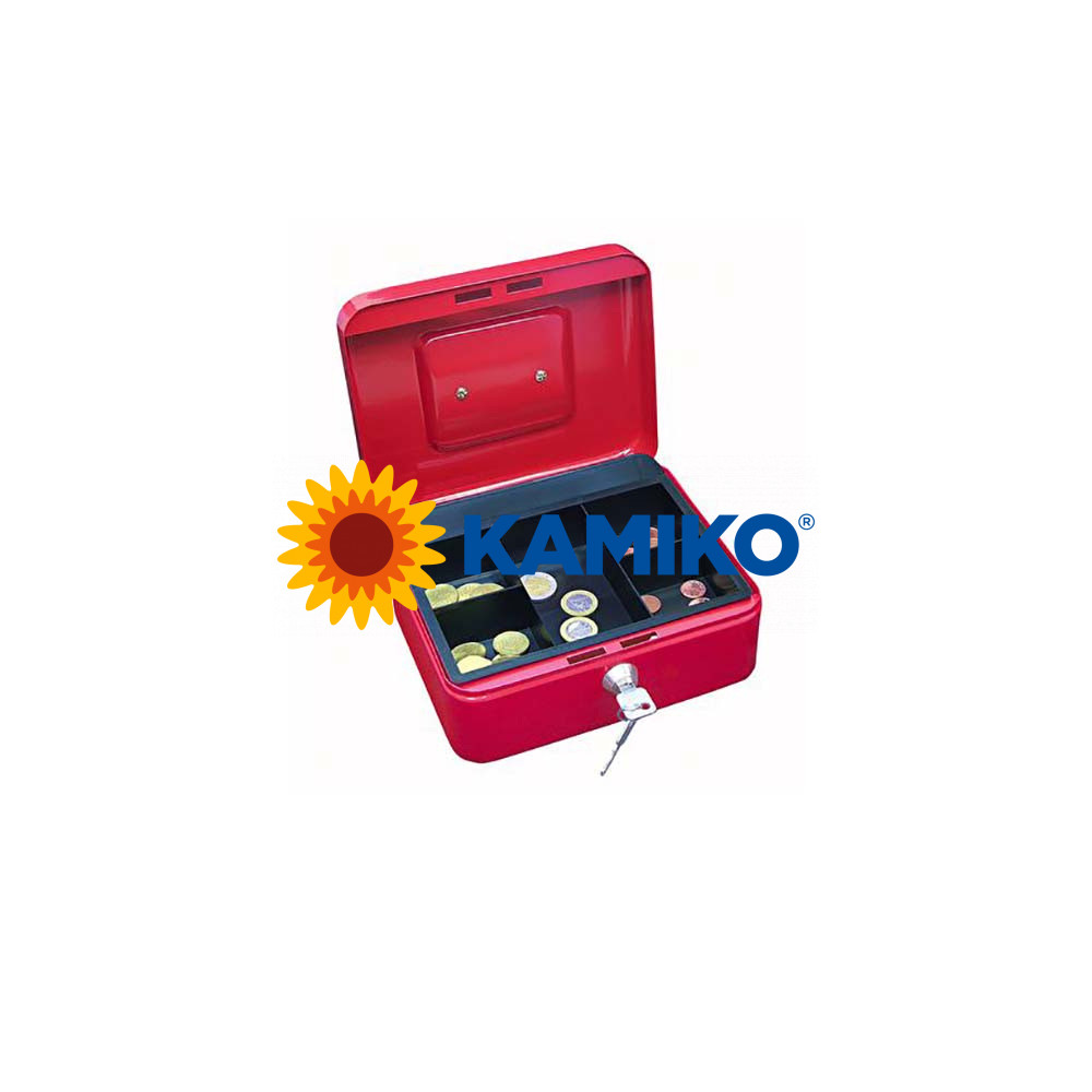 Pokladnička WEDO s klipom 200 x 160 x 90 mm červená