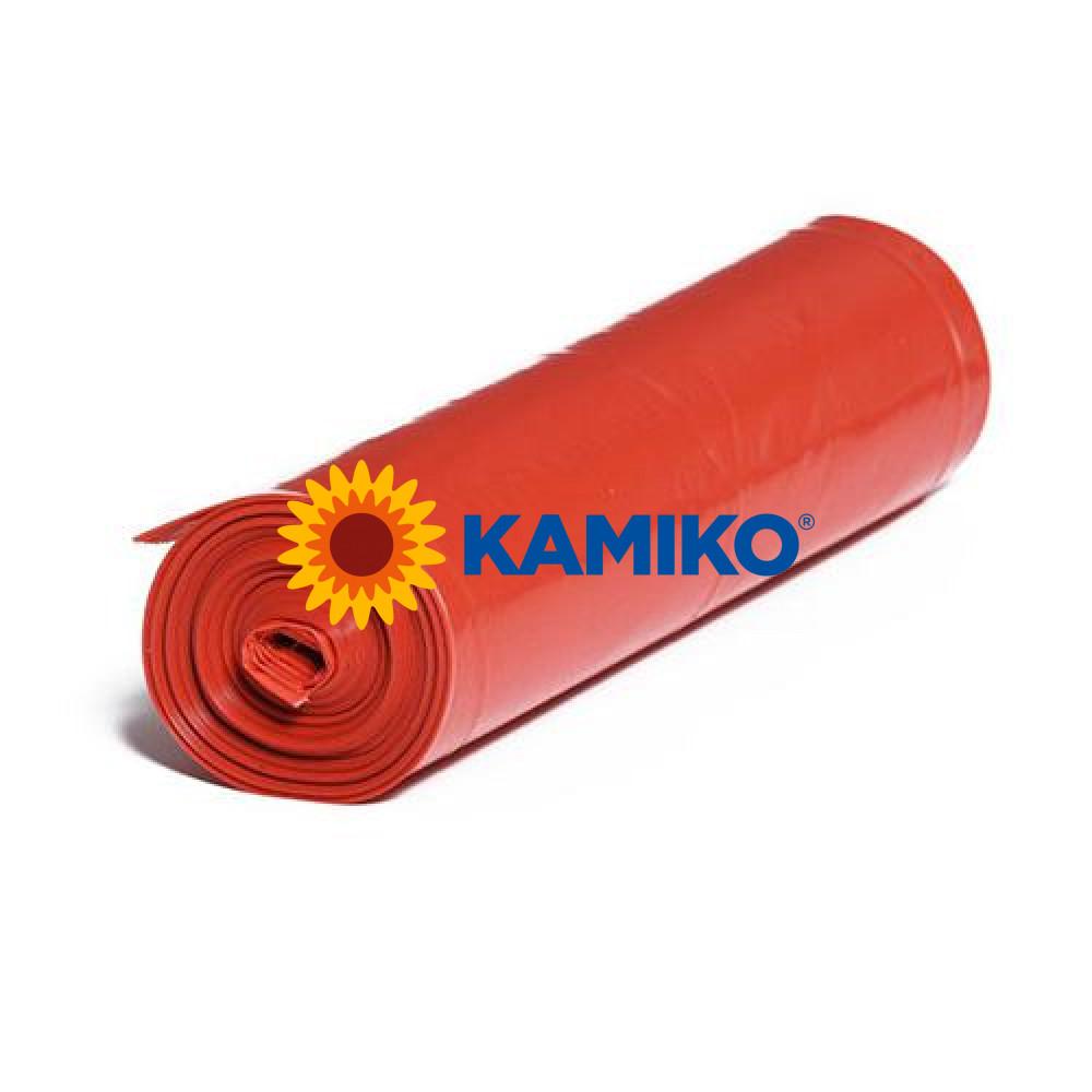 Plastové vrecia LDPE 70 x 110 cm, 120 l, typ 40, červené