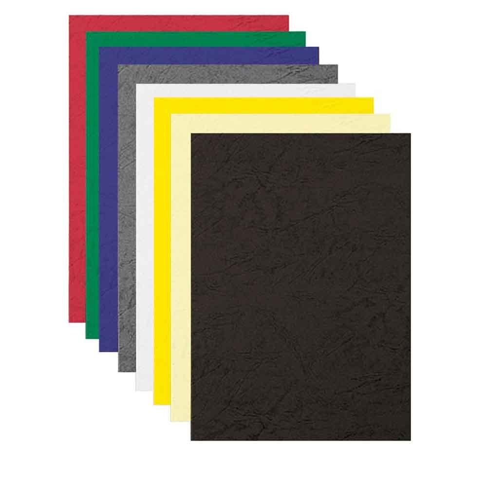 Kartónové obálky na krúžkovú väzba Delta koža A4 sivé