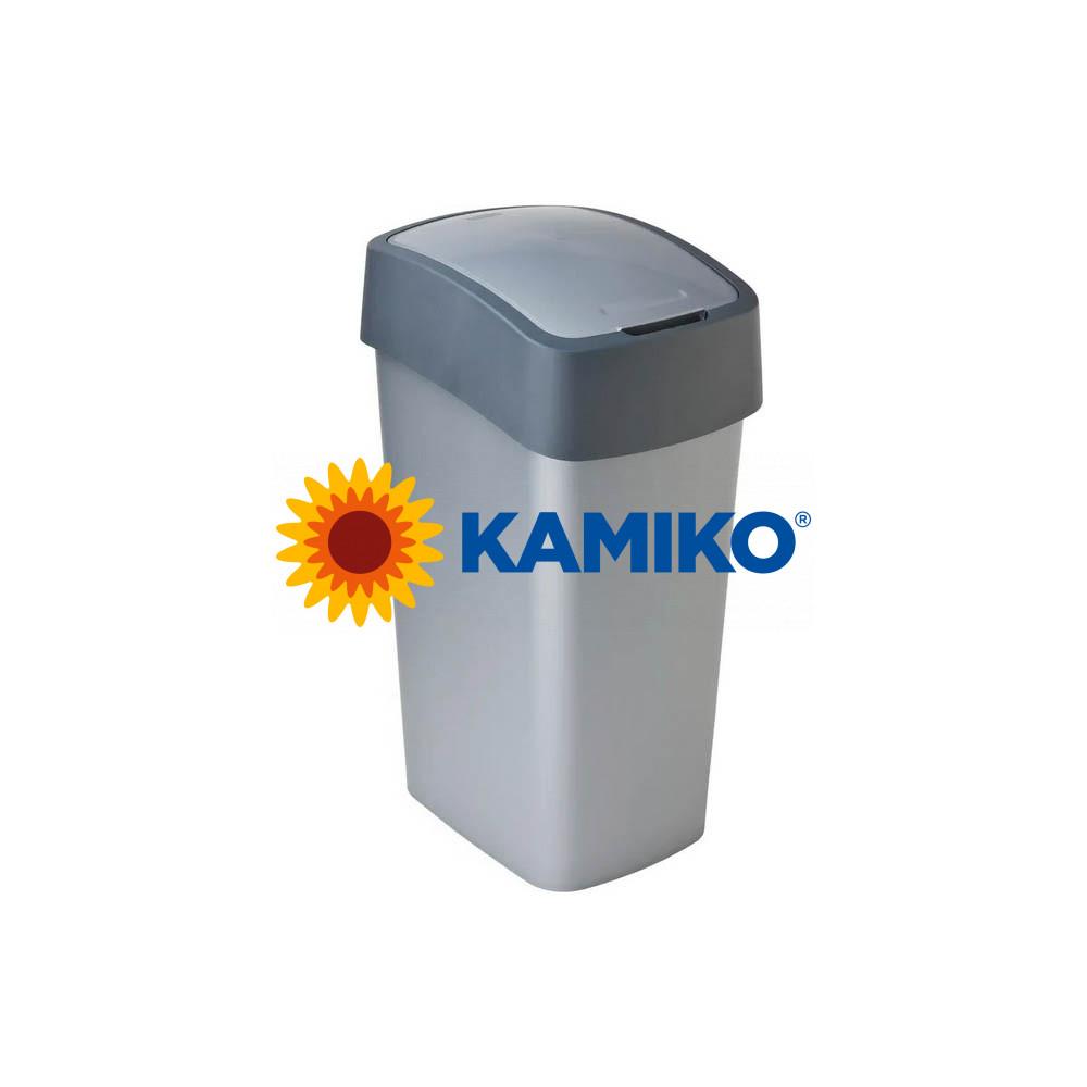 Odpadkový kôš CURVER Flipbin 25 l strieborná/antracitová