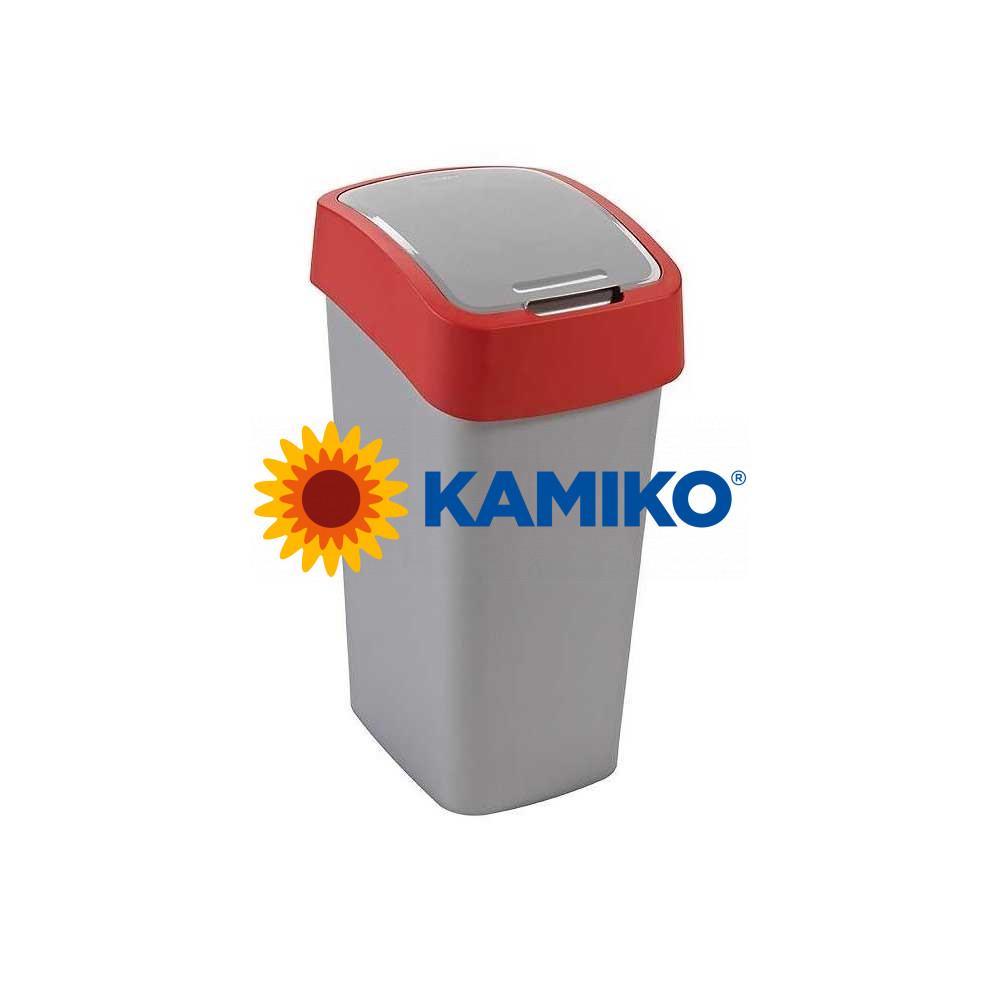 Odpadkový kôš CURVER Flipbin 10 l strieborná/červená