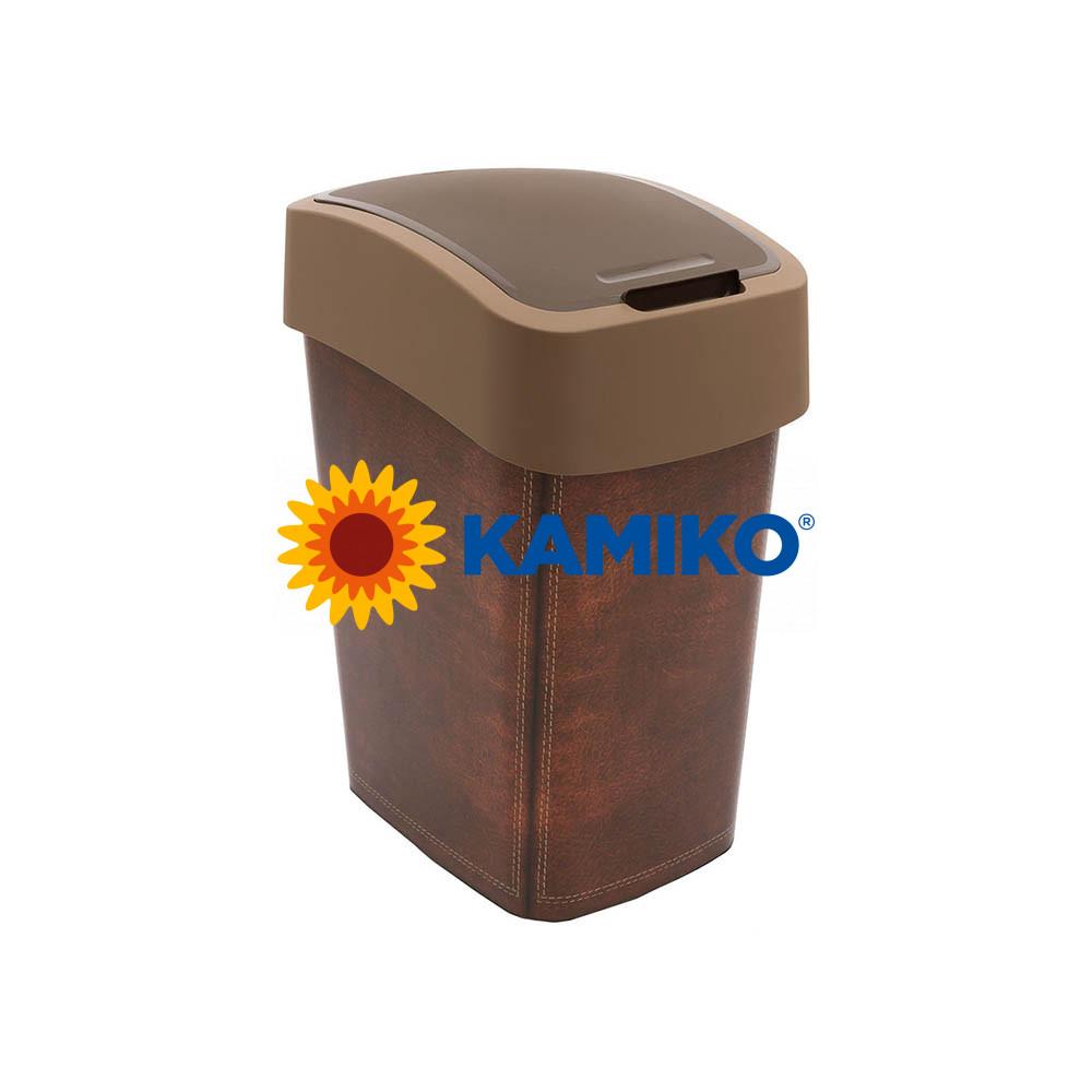 Odpadkový kôš CURVER Flipbin 25 l LEATHER