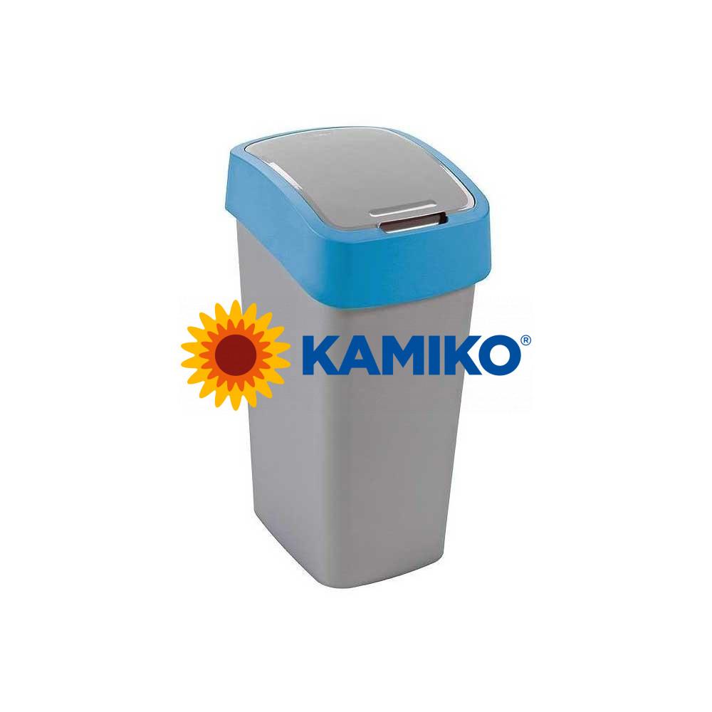 Odpadkový kôš CURVER Flipbin 10 l strieborná/modrá