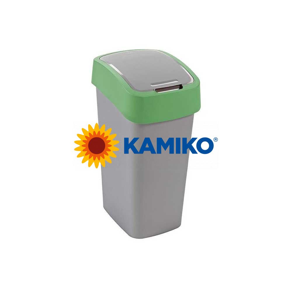 Odpadkový kôš CURVER Flipbin 10 l strieborná/zelená