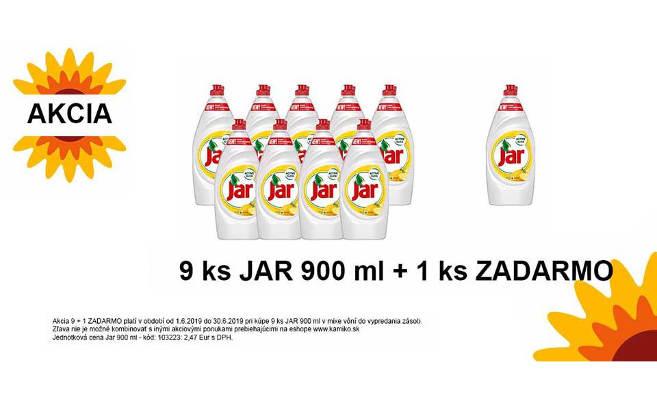 Akcia Jar 900 ml 9 ks + 1 ks