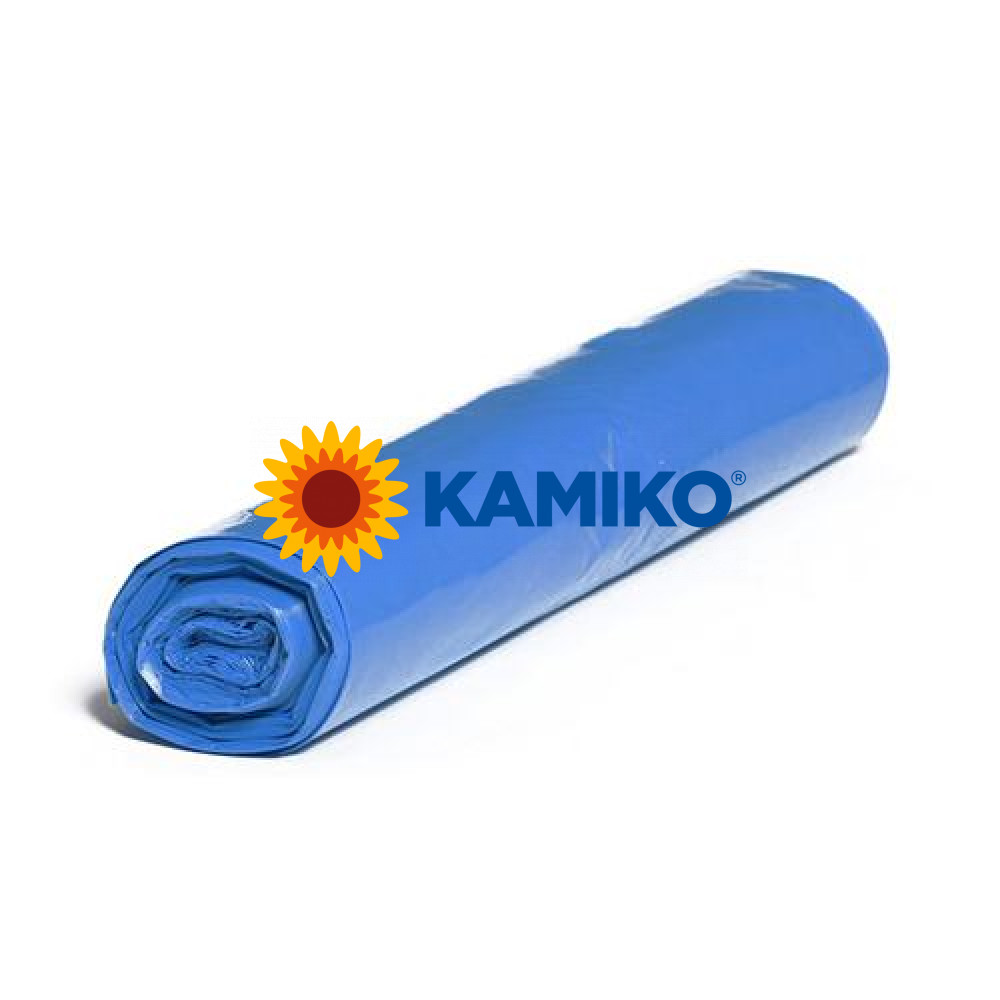 Plastové vrecia LDPE 70 x 110 cm, 120 l, typ 80, modré