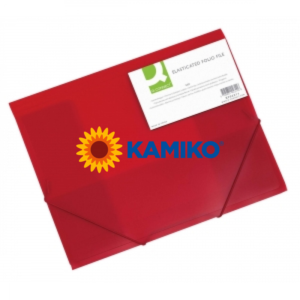 Obal na dokumenty s tromi chlopňami Q-Connect červený