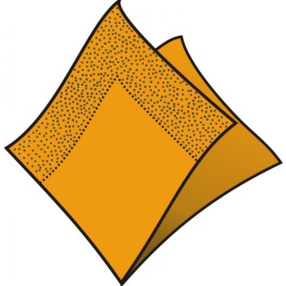 Servítky 33 x 33 cm, 2 vrstvy, oranžové