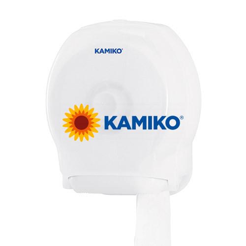Zásobník toaletného papiera KAMIKO Jumbo 19 cm, QTS transparentný