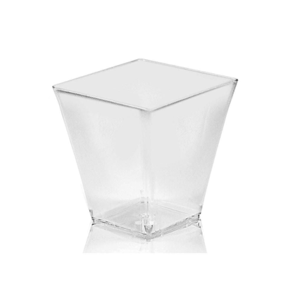 Fingerfood pohárik hranatý, číry 7,2 x 7,2 x 7,2 cm - 230 ml