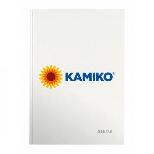 Záznamová kniha linajkovaná A4 80 listov Leitz WOW biela