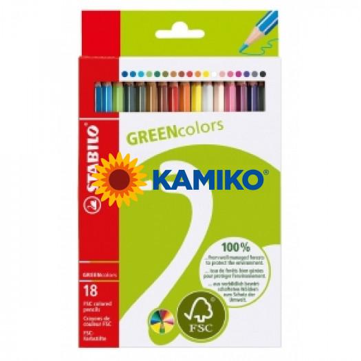 Farebné ceruzky STABILO GREENcolors 18 ks
