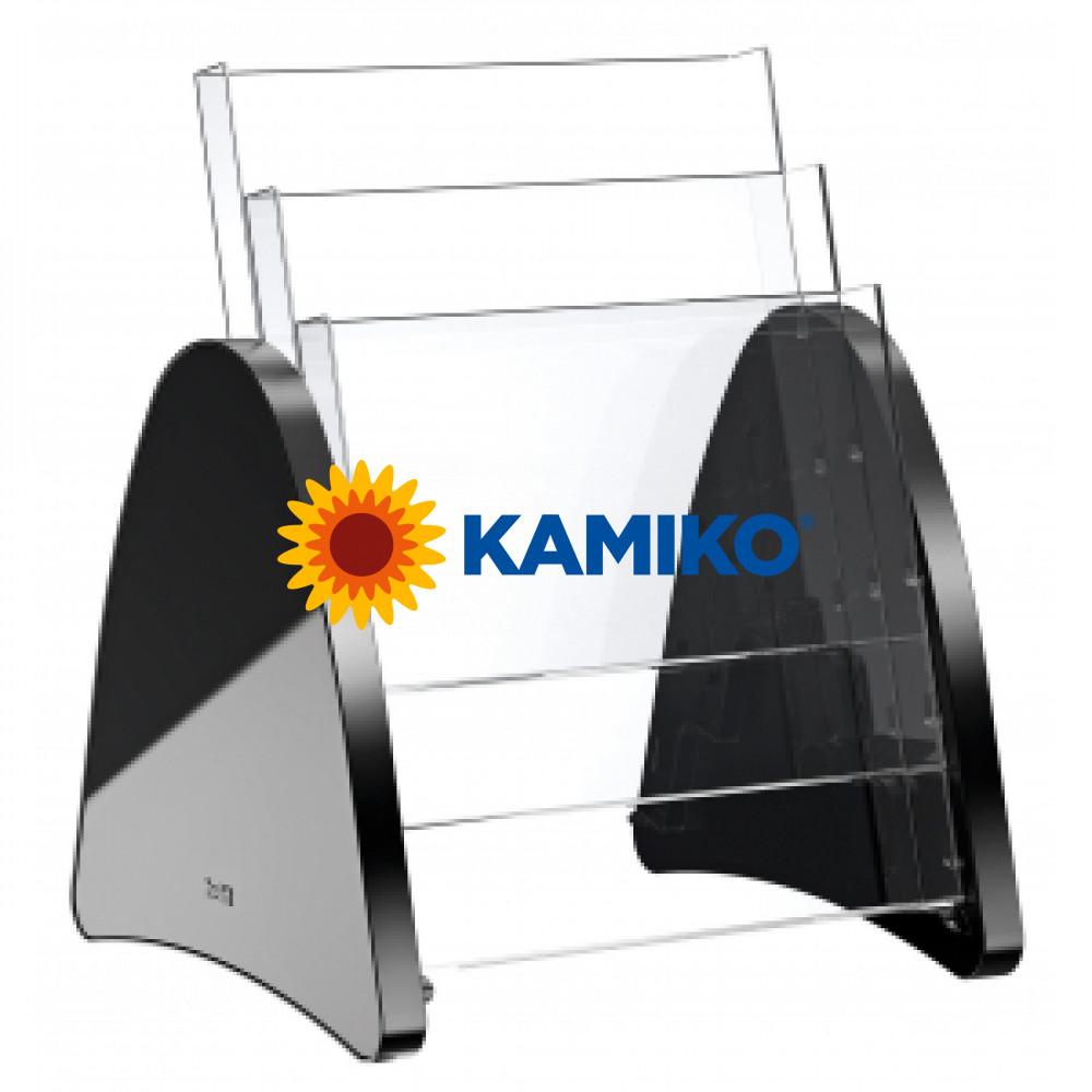 Prezentačný stojan Helit Parabel A4 čierny