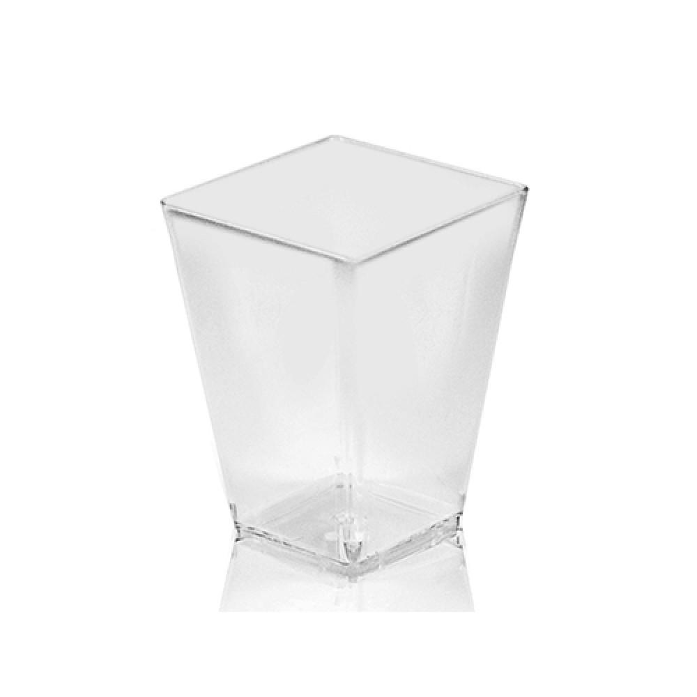 Fingerfood pohárik hranatý, číry 5,8 x 5,8 x 7,6 cm - 160 ml