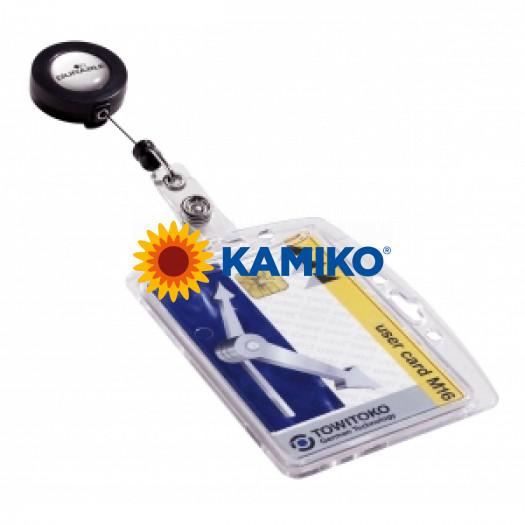 Visačka na plastovú kartu s kotúčom DURABLE 85 x 54 mm, 10 ks
