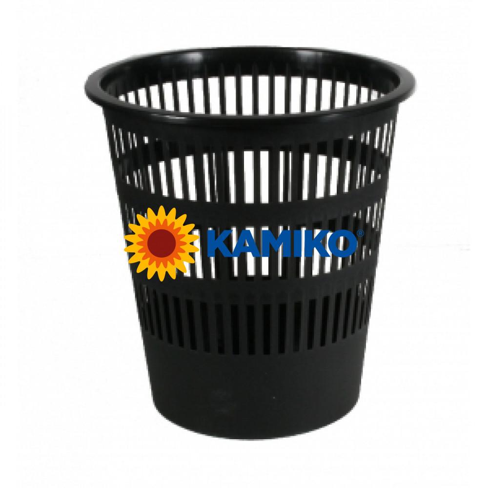Kôš plastový rebrovaný 12 l čierny