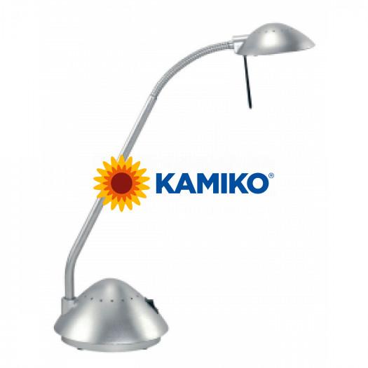 Halogénová lampa stolová MAULarc strieborná