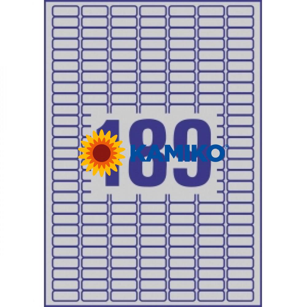 Etikety Avery 25,4x10 mm, polyesterové strieborné