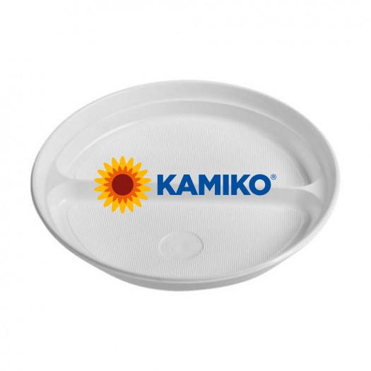 Plastový tanier delený na 2 porcie 22 cm (PP)