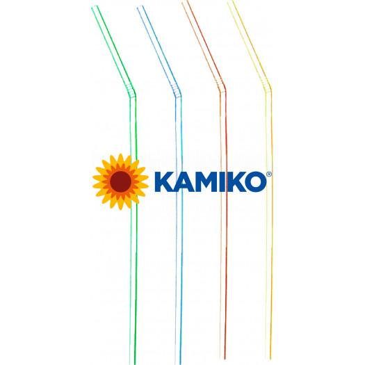 Slamky flexibilné, 21cm, pr. 5 mm, farebný mix