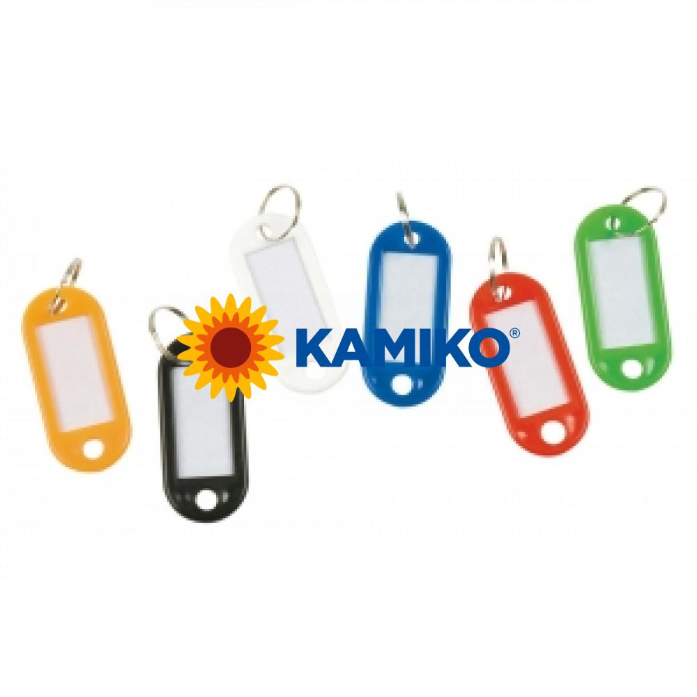 Menovky na kľúče Q-Connect biele, 10ks