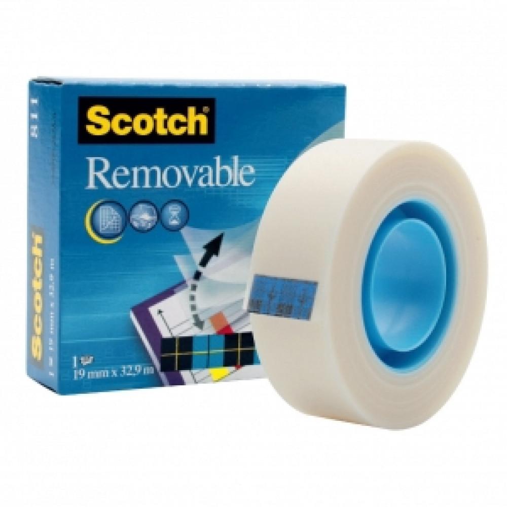 Lepiaca páska Scotch Removable odnímateľná19mm x 33m