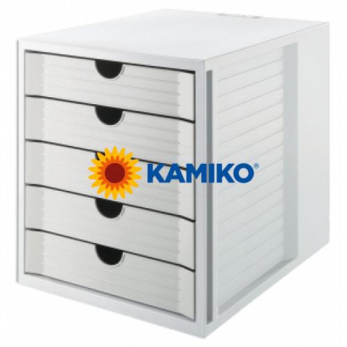 Zásuvkový box System KARMA eko-sivá