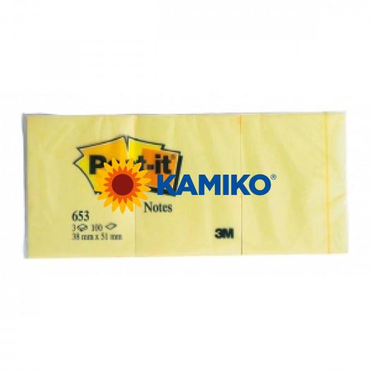 Samolepiaci bloček Post-it 38x51 žltý/3