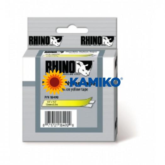 Flexibilná nylonová páska Dymo D1 12mm žltá/čierna