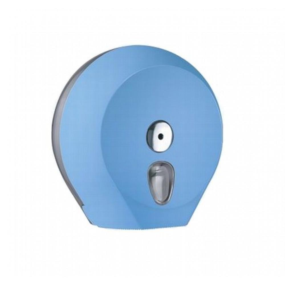 Zásobník toaletného papiera COLORED Jumbo 23 cm, modrý
