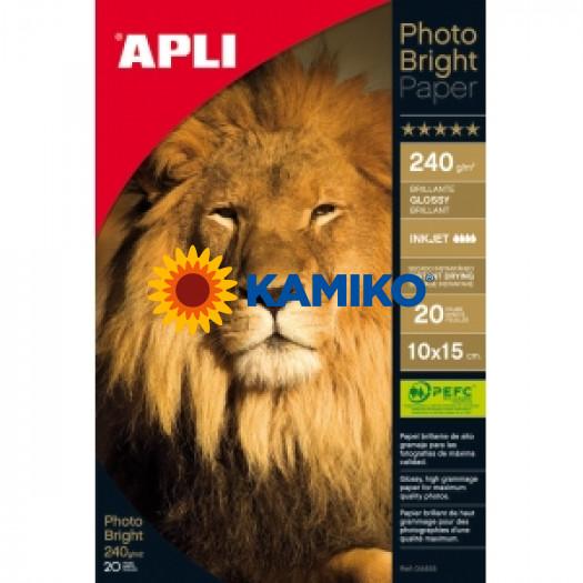 Fotopapier APLI 10 x 15 cm  Bright PRO 240 g, 20 hárkov