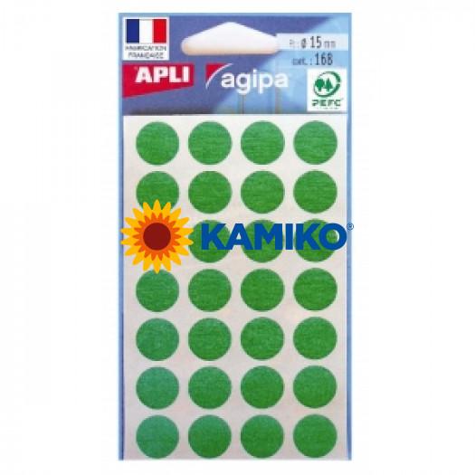 Etikety 15 mm zelené, maloobch.balenie