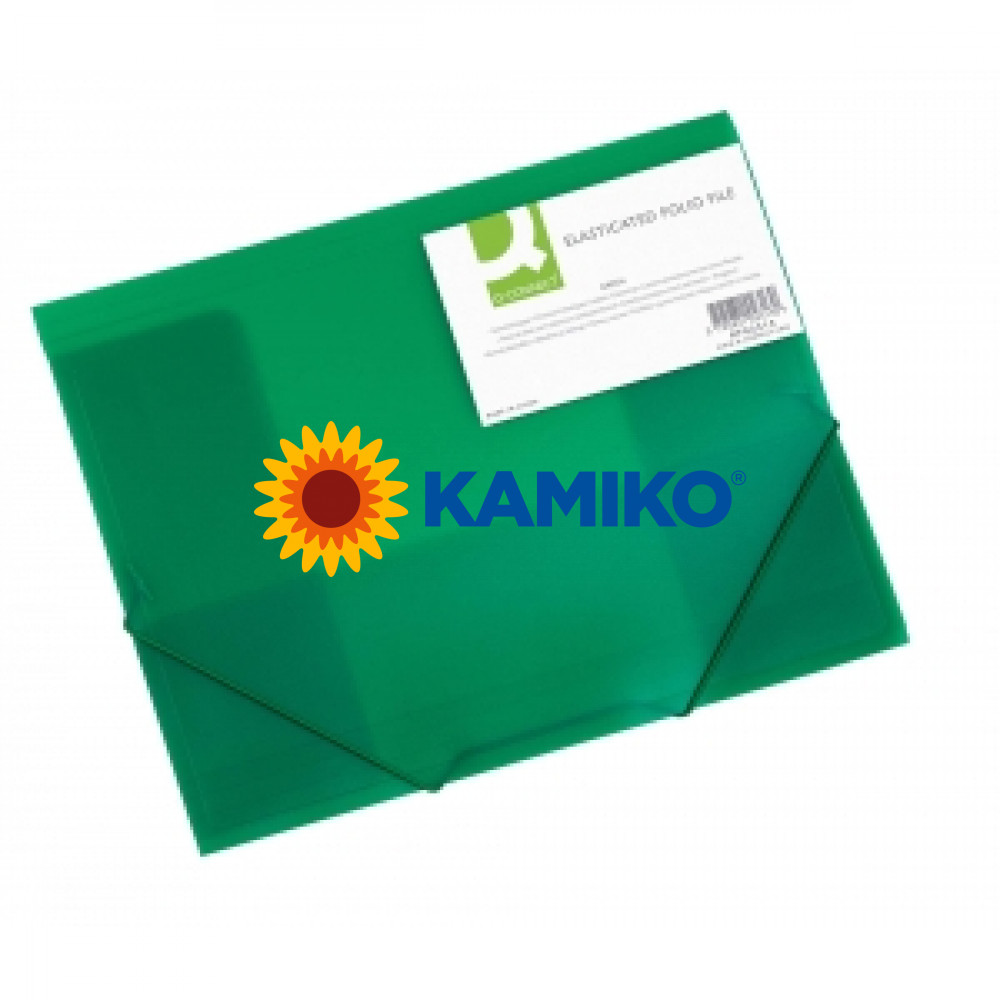 Obal na dokumenty s tromi chlopňami Q-Connect zelený
