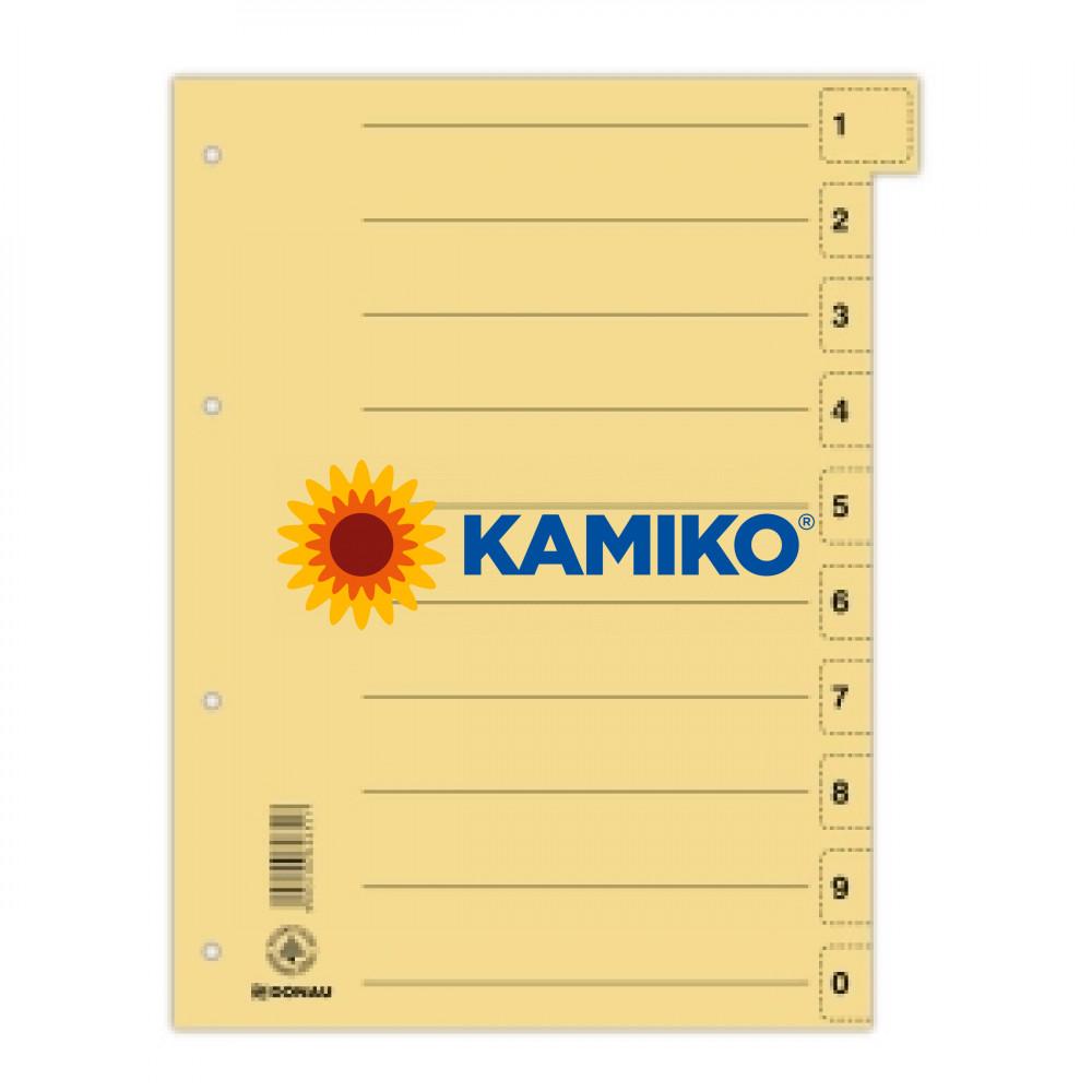 Kartónový rozraďovač odtrhávací žltý