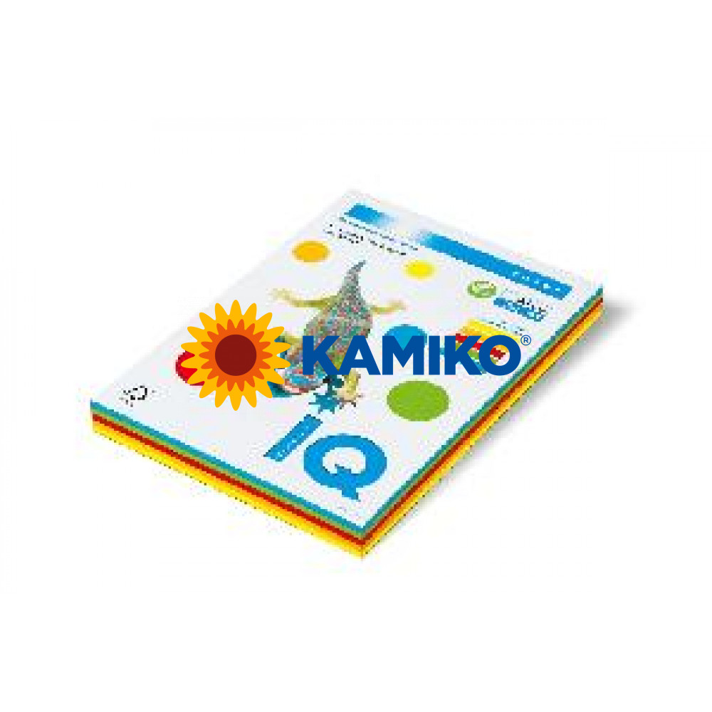 Kopírovací papier 80g A4 IQ color 5x50 mix intenzívne farby