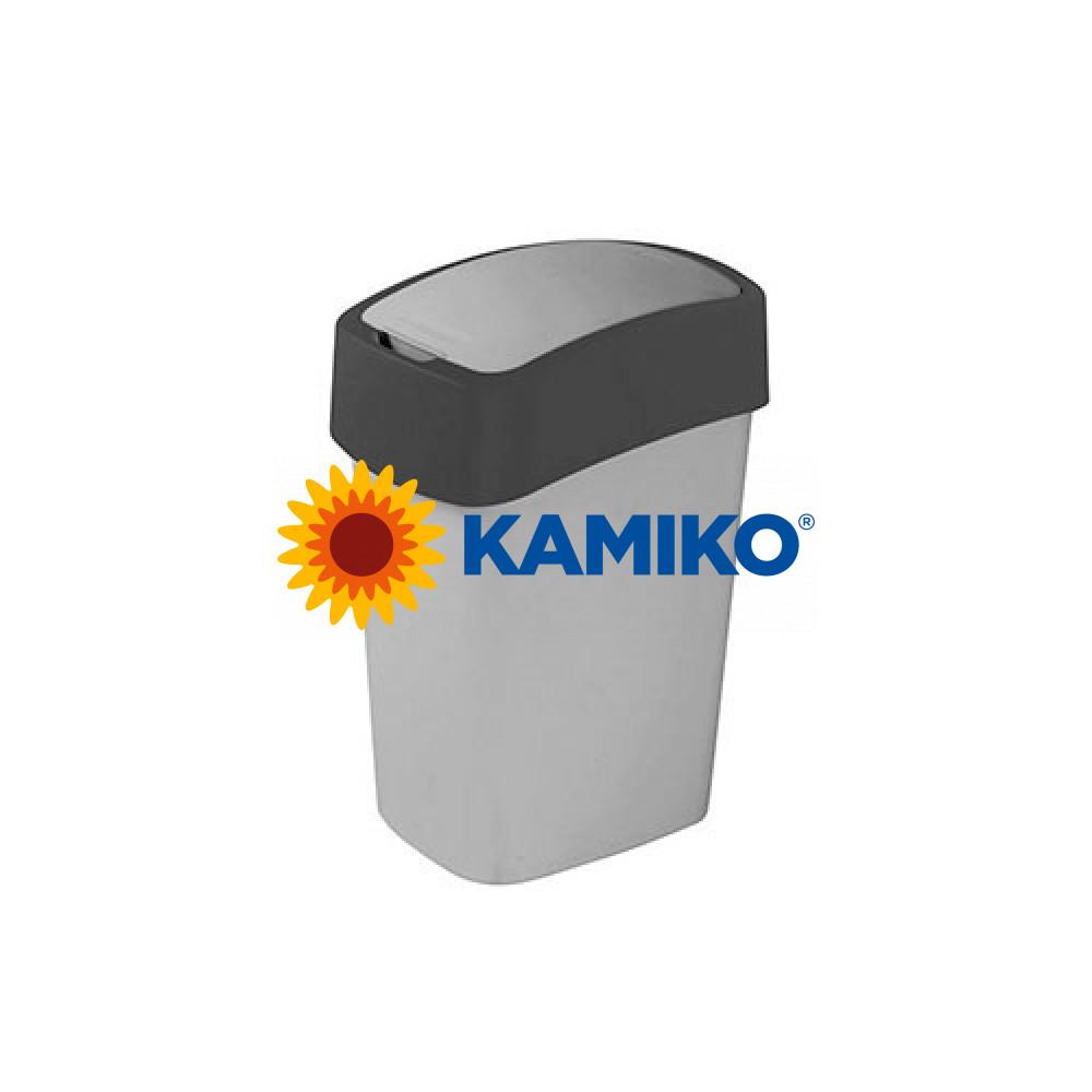 Curver odpadkový kôš Flipbin 50 l strieborná/antracitová