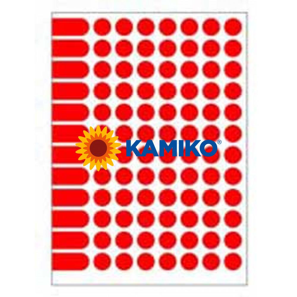 Etikety A5 15 mm červené