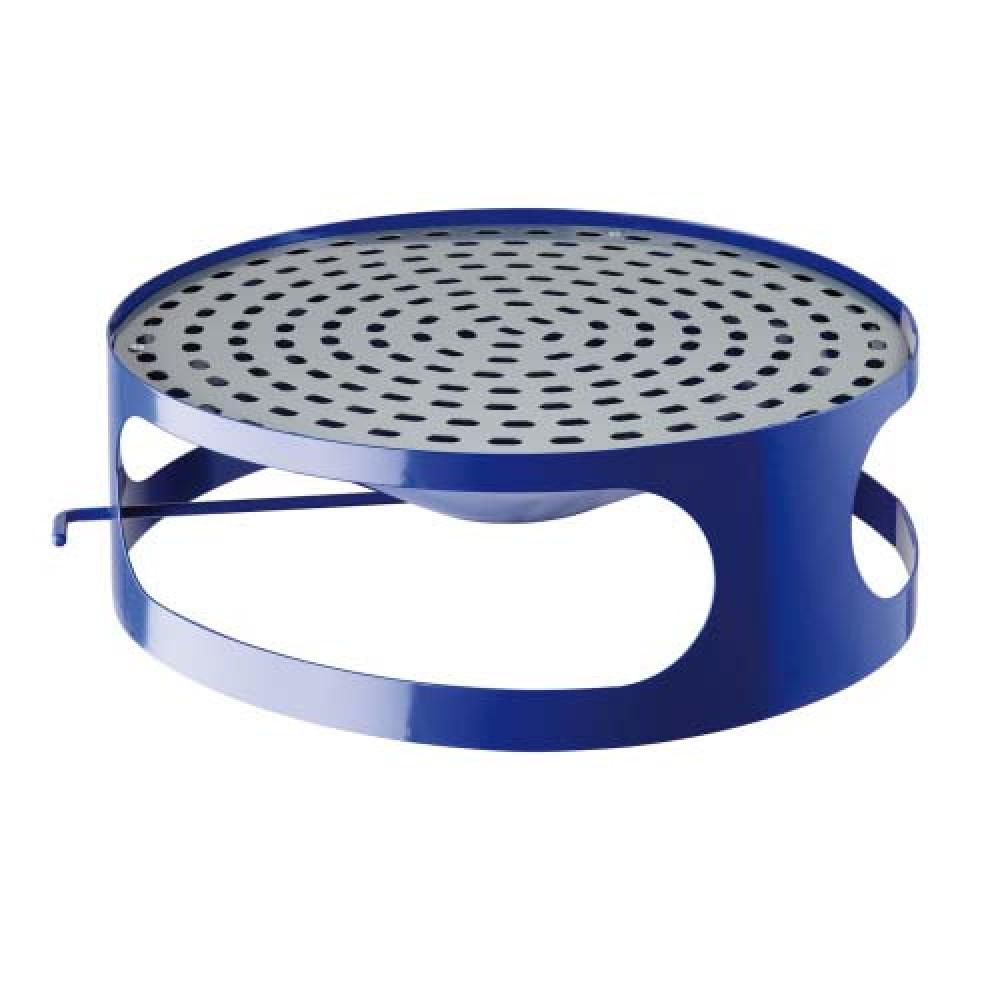 Veko koša s popolníkom pre betónový kôš 180 kg - lak modrý