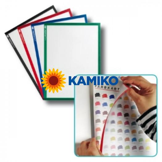 Magnetický držiak dokumentov A4 modrý, 5 ks