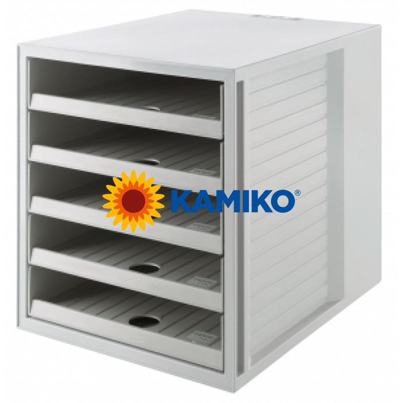 Zásuvkový box Cabinet KARMA eko-sivá
