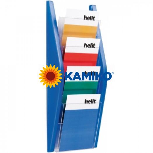 Prezentačný stojan Helit 4 x A5 modrý