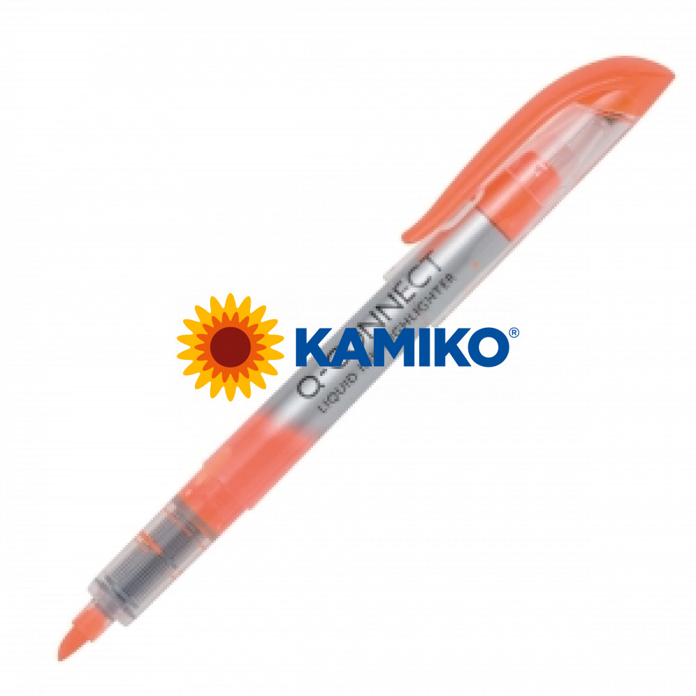 Zvýrazňovač Q-CONNECT  liquid ink oranžový