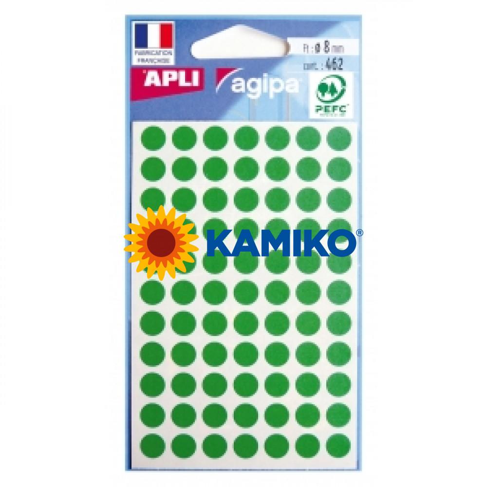 Etikety 8 mm zelené, maloobch.balenie