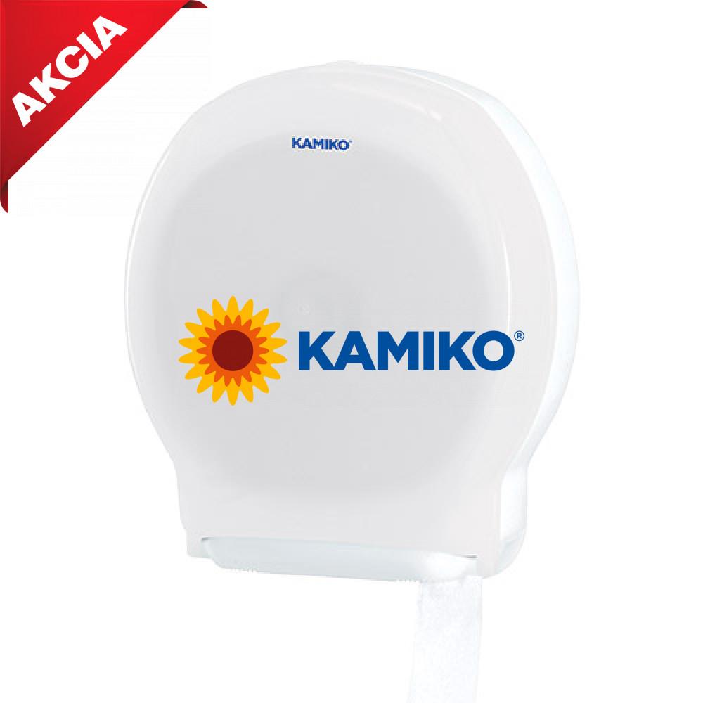 Zásobník toaletného papiera KAMIKO Jumbo 28 cm, QTS transparentný