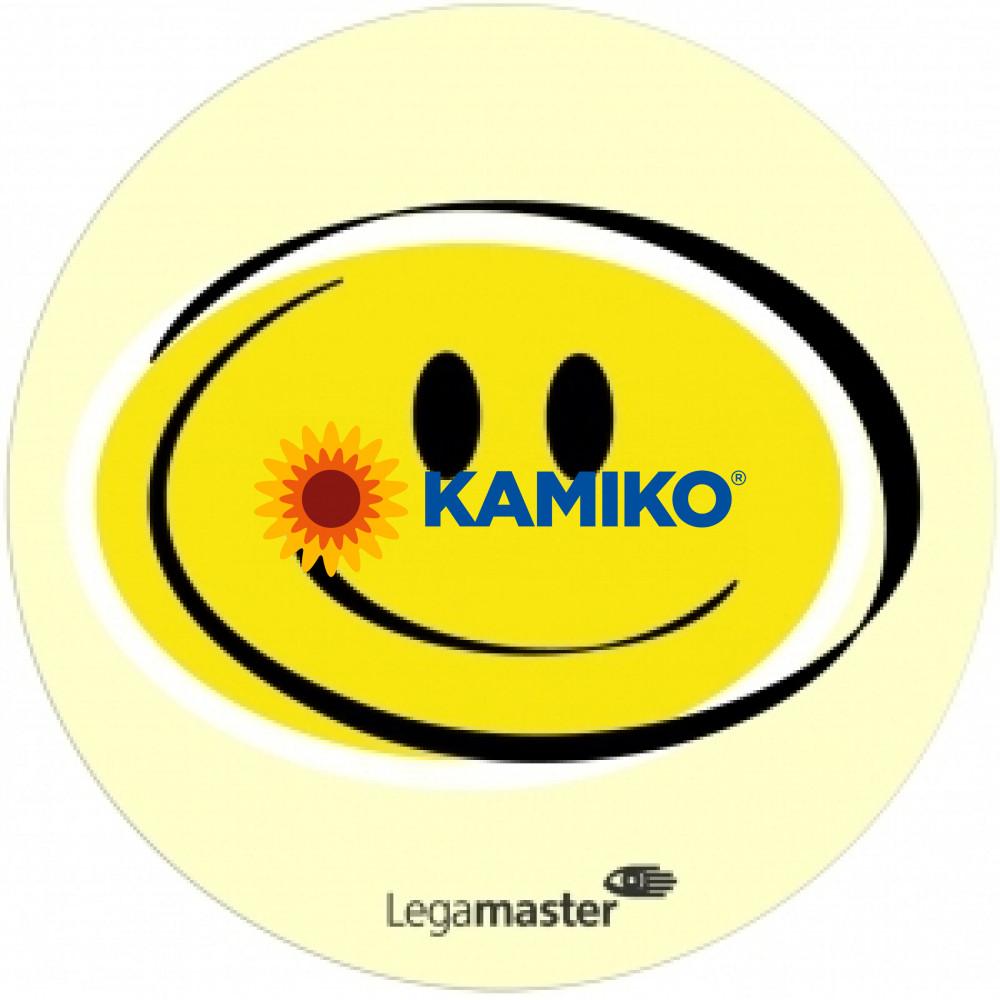Moderačné karty emočné Smileys priemeru 9,5 cm žlté, 100 ks