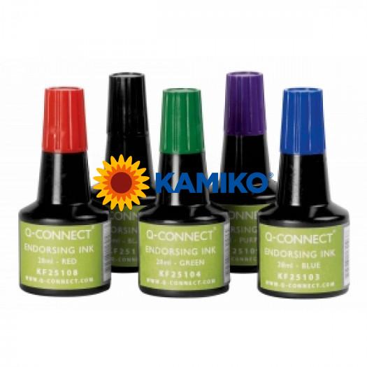 Pečiatková farba Q-Connect čierna 28ml