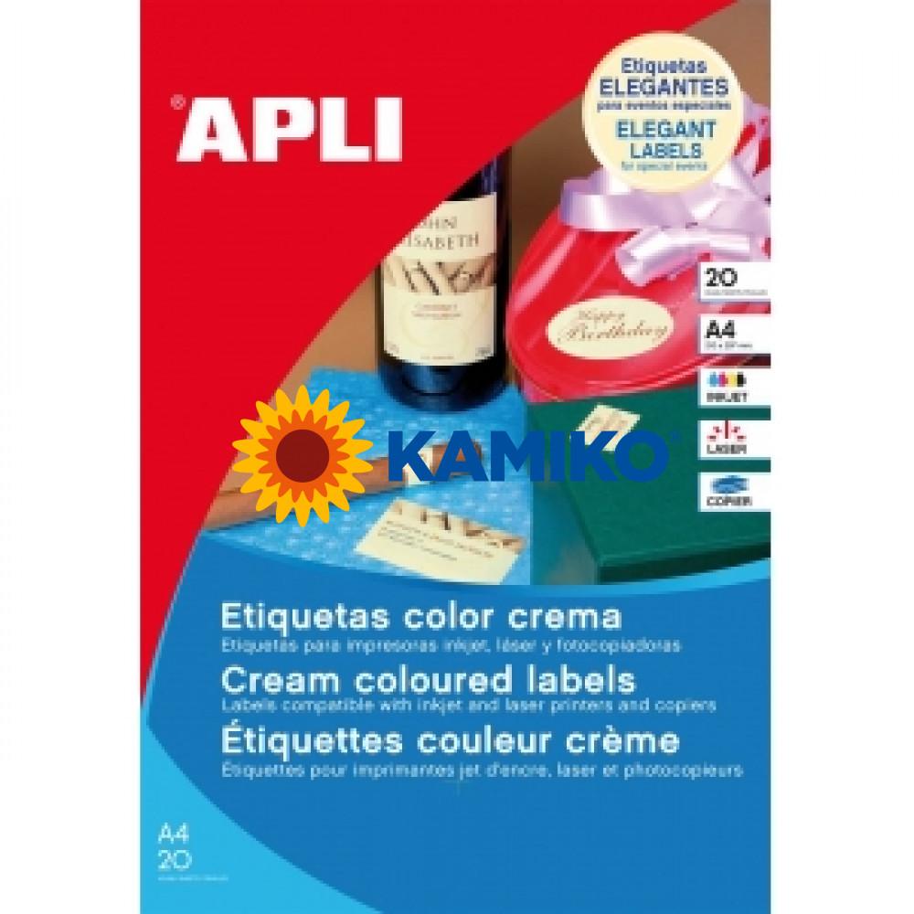 Krémové etikety A4