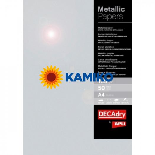 Metalický papier strieborná 130g