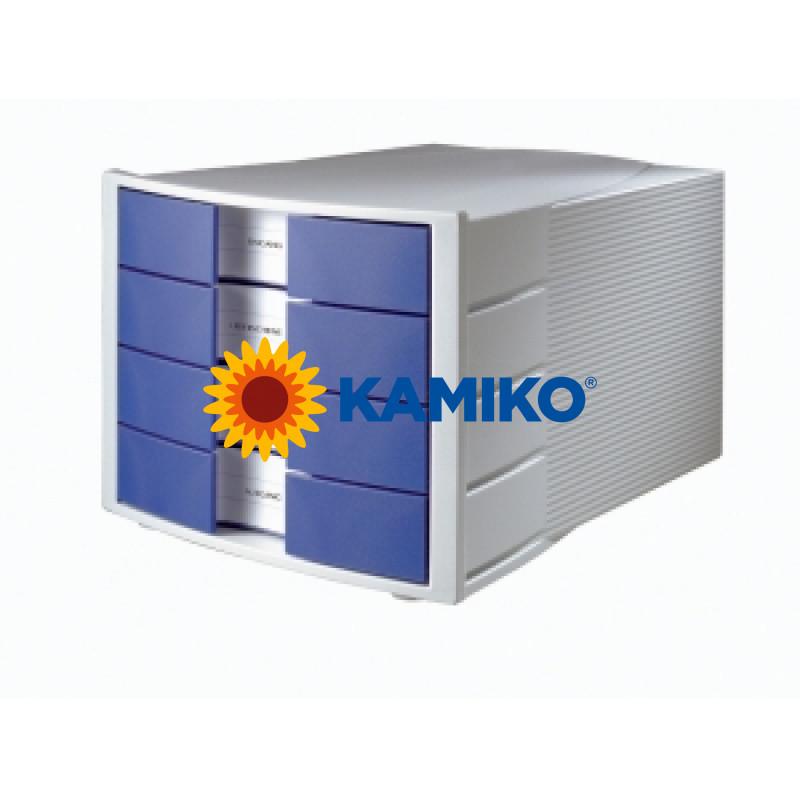 Zásuvkový box Impuls zatvorený sivý/modrý