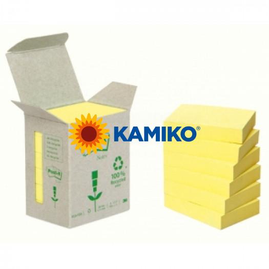 6x654 Samolepiaci bloček Post-it recyklovaný 76x76 žltý